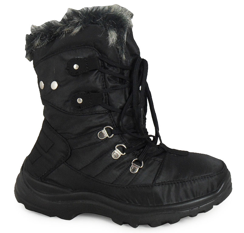 Black Women Snow Boots Waterproof | Illinois Institute of Technology