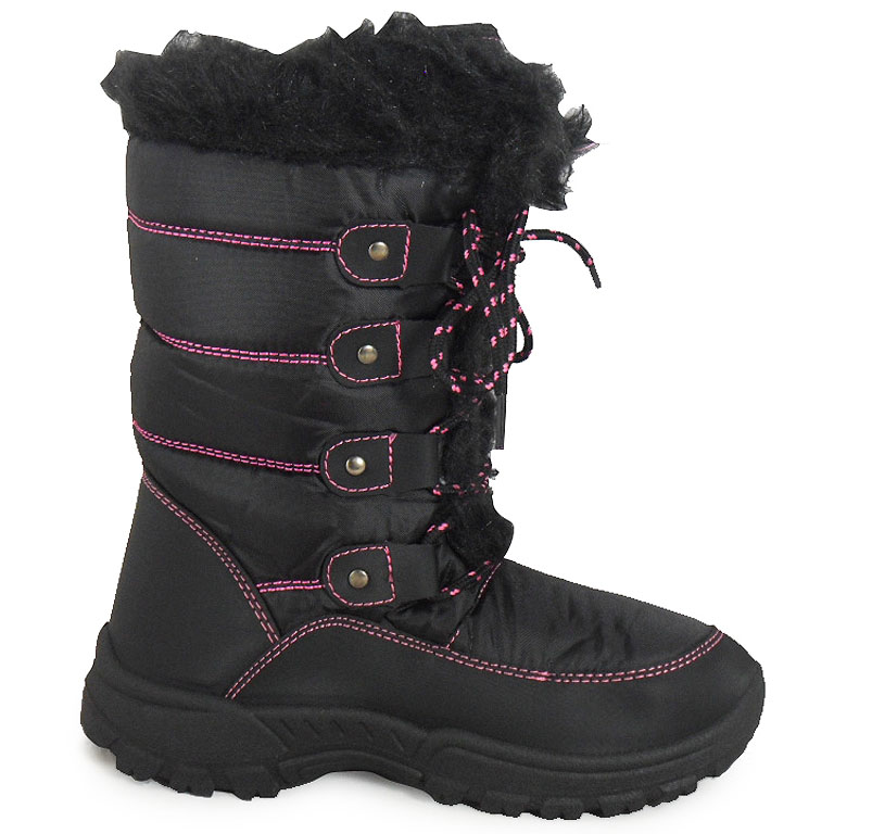 Black Snow Boots For Womens Waterproof | Homewood Mountain Ski Resort